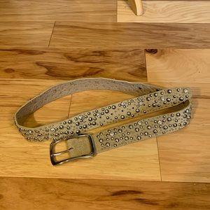 Guess Rhinestone embellished leather belt. L